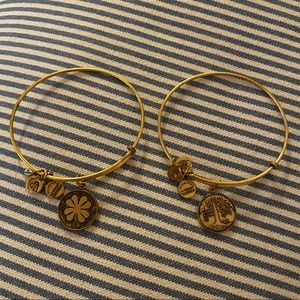 Alex and Ani Clover and Tree of Life Charm Bangles